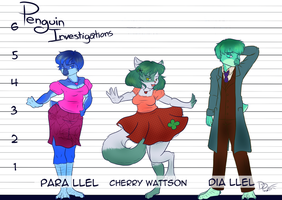 Penguin Investigations Characters by ParallelPenguins