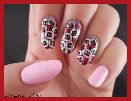 Nail Art: Valentines Day M+Ms by KittyKlawzPolish