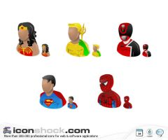 Super Heroes vista icons by Iconshock