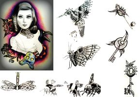 Bioshock inspired design and various others by PufferfishCat