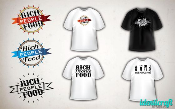 Rich People Food band concept logos 2 by identicraft
