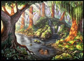 Mystical Forest by cleophus