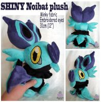 Shiny Noibat Pokemon plush by scilk