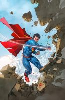 SUPERMAN cover 13 colored by SUNNY GHO by DeevElliott