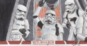 Star Wars ROTJ 3D - Stormtroopers Sketch Art Card by DenaeFrazierStudios