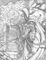 Spawn and Violator Pencils by RAM by ramstudios1