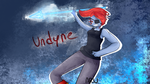 Undyne Wallpaper by ZombieAlpacalypse