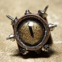 Golden Steampunk tie tack by CatherinetteRings