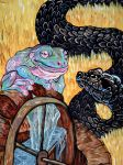 Panchatantra The Frog King and the Snake by edelias