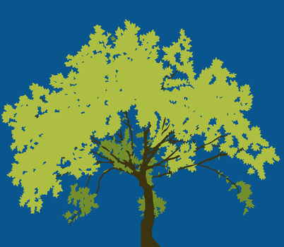 Tree in a deep blue day by cesarkohl