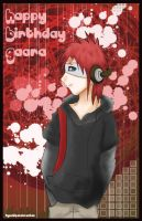 Happy Birthday Gaara 2008 by KyuubiPandoraChan