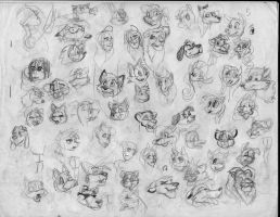100 heads and poses P27 by Redfoxbennaton