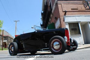 Hot rod on the corner by RedlineGearhead