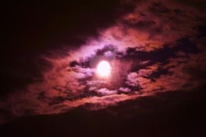 Moon and clouds by ArtieWallace
