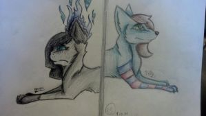 Apathy And Lily colored by b1ackb100d13
