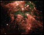 Red Space Texture Background by RavenMaddArtwork
