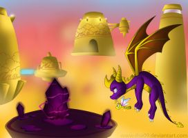 Spyro Cloudy domain by DSA09