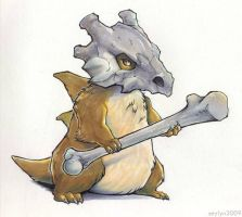Cubone Marker Sketch by Seylyn