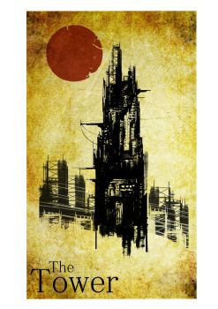 Tarot card: XVI The Tower by mr-47ale