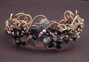 Dragonfly Cuff Bracelet by WiredElements