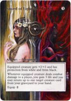 Magic Card Alteration: Sword of Light and Shadow by Ondal-the-Fool