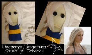 Daenerys Targaryen Chibi Plushie {Game of Thrones} by KyraStarr