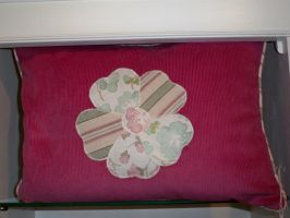 Applique Flower Cushion by Kat2805