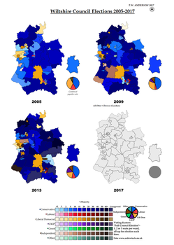 Wiltshire Council Elections 2005-2017 by AJRElectionMaps