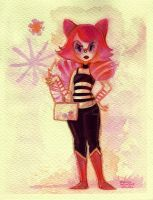 [PM2012] Magenta Raccoon Gal by papelmarfil