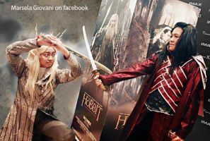 Thranduil vs Elrond by seawaterwitch