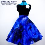 Galaxy Pinup Retro Circle Skirt by DarlingArmy