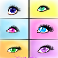 MLP FIM eye study by SweetKeyDani