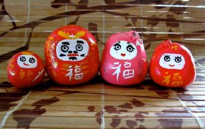 Daruma Family by broom-rider