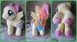 ( MLP ) Rainbowfied Fluttershy Funrise Large Plush by KrazyKari