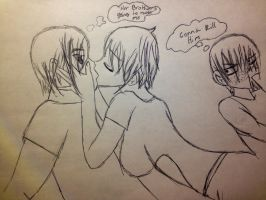 If my brother saw me kiss a guy by Animenekoyoailover