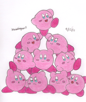 Lots of Kirbies by MarioSimpson1