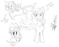 MLP New styles by AhomeToons