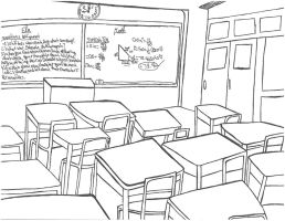 Shifters Class Room Background (Sketch) by SamuXchan