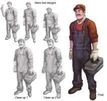 Mario redesign by TheBZRKR