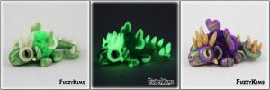 Polymer Clay Dragons Glow in the Dark by KIMMIESCLAYKREATIONS