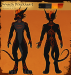 Ref Sheet Comish - Wraith Blackheart by TwilightSaint
