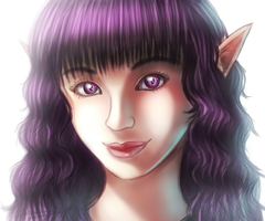 Violet portrait colored by GreekMuscle