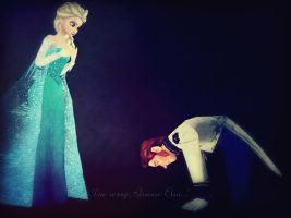 I'm sorry, Queen Elsa... by Simmeh