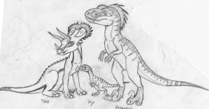 A trio of Dinosaurs by Rexander134
