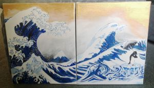 Japanese Wave by carlyscanvas
