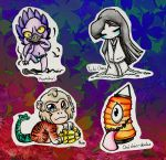 Japanese Mythical Creatures Chibi's 5 by Inya-spring