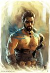 [ Khal Drogo ] Speed_Painting by AkiMao