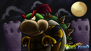 Yoshi's New Island Wallpaper - Big Baby Bowser by SrPelo