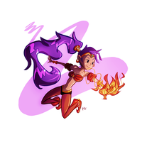 Shantae the Half-Genie by FireCouch