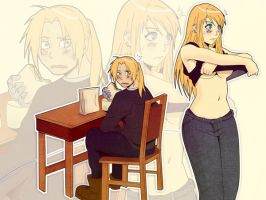 Ed and Winry (fullmetal Alchemist) by indy-riquez